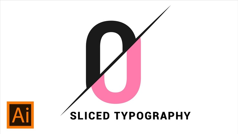 Sliced Text Effect | Adobe Illustrator Tutorial