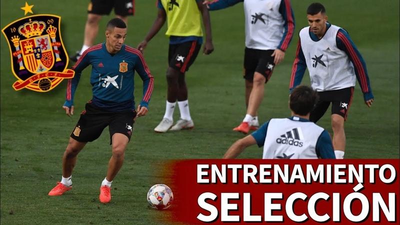 Entrenamiento de la Selección Española previo a los partidos de Gales e Inglaterra | Diario AS