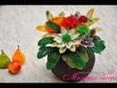 Цветы из бисера Композиция Осень. Часть 1 - Хризантемы. Мастер класс / Beaded flowers