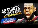 LeBron James EPiC 46 Pts, 11 Reb, 9 Ast 2018 ECF Game 6 Cleveland Cavaliers vs Celtics   FreeDawkins