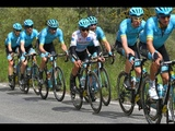 2 CRASHES. 3 BIKES OUT WET SECOND STAGE OF GIRO 2019