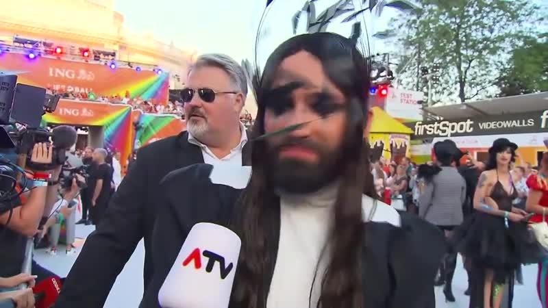 """Conchita Wurst """"Ich glaube nicht, dass es der letzte Life Ball ist…"""" (puls4, 08-06-19)"""