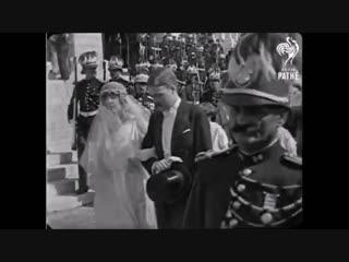 Свадьба Принцессы Монако Шарлотты и графа Пьера де Полиньяка, 19 марта 1920 г.