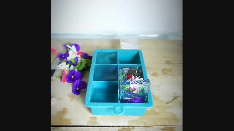 Лед с цветами