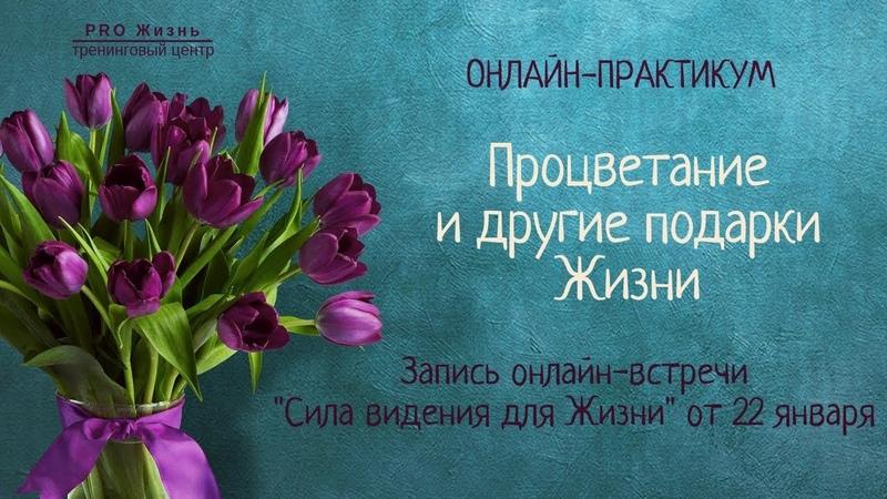 День 2 Сила Видения для Жизни онлайн практикум Процветание и другие подарки Жизни
