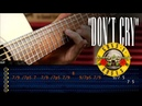 Don't Cry Solo | Guns 'N Roses | Acustico Guitarra Cover Tutorial