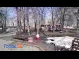 В Омском парке детский паровозик ездит под песни Rammstein