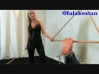 Mistress bastinado a slave