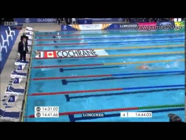 Men's 1500m Freestyle Final Commonwealth Games 2014
