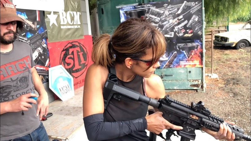 Halle Berry Training with Taran for John Wick Chapter 3 Parabellum