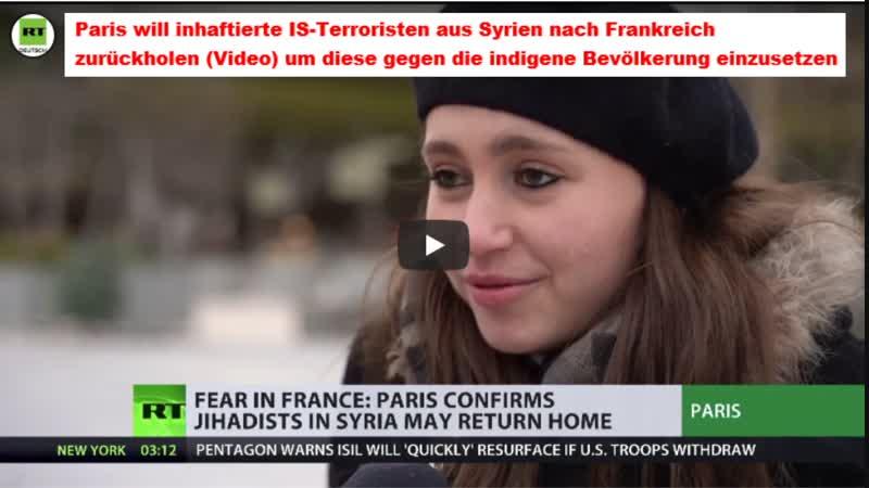 Paris will inhaftierte IS Terroristen aus Syrien nach Frankreich zurückholen Video