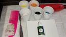 Замес краски с клеем ПВА Силикон расческа в Акриловой заливке Урок по шагам AcrylicFluidPouring