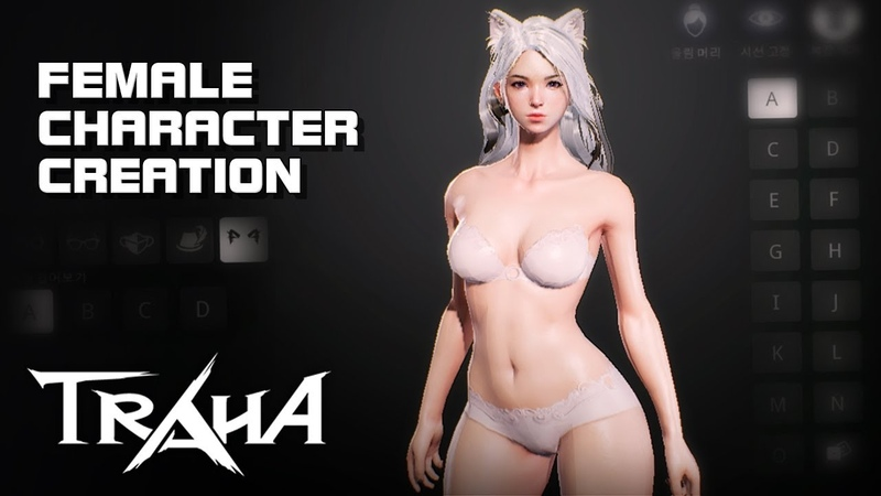 Traha Female Character Creation Android on PC Mobile F2P KR