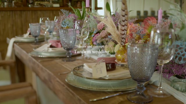 Tandem Wedding decor and concept
