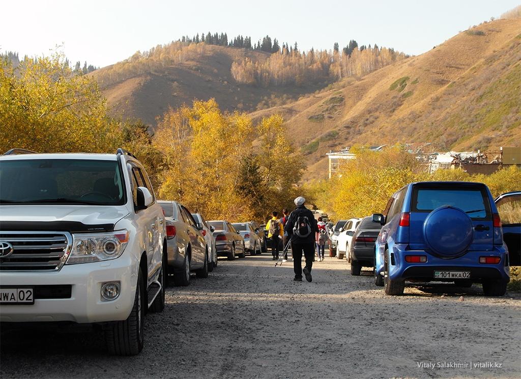 Парковка в Бутаковском ущелье