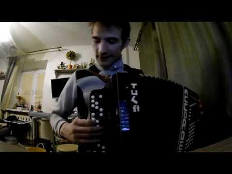 Игра аккордами на правой клавиатуре баяна Разбор песни Кукушка