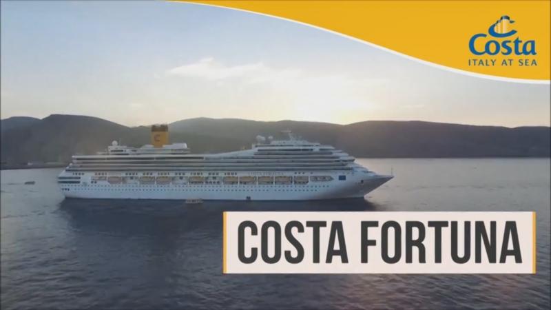 Быстрый обзор круизного лайнера Costa Fortuna. Бронируй круиз со скидкой на Open.Incruises.Com!