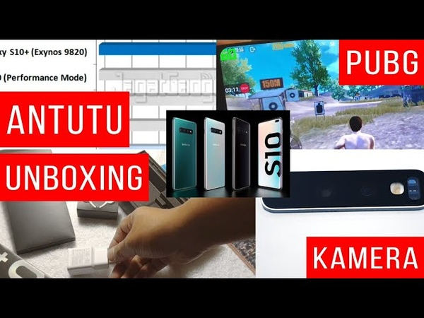 Samsung Galaxy S10 Unboxing, Main PUBG 60FPS, Video Super Steady, Benchmark, Antutu - Indonesia