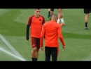 Marco Verratti tried to use a sprinkler to prank Kylian Mbappe in training But the trick backfired on the PSG midfielder