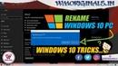 How to Rename Windows 10 PC Windows 10 Tips And Tricks 2019 - WM Originals
