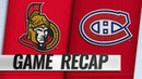 Habs score two quick goals in the 3rd, edge Senators
