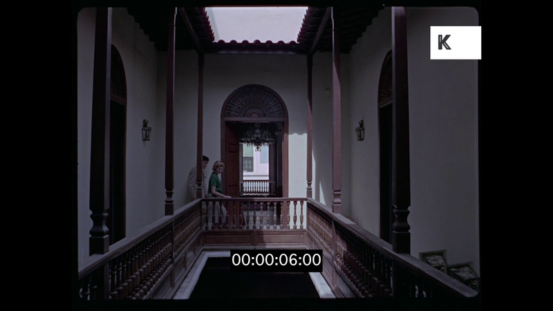Guests Tour Palatial House, 1960s in HD from 35mm