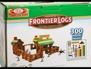 Ideal Frontier Logs 300 Piece 🏡 Classic Wood Construction Set 🏡 with Action Figures