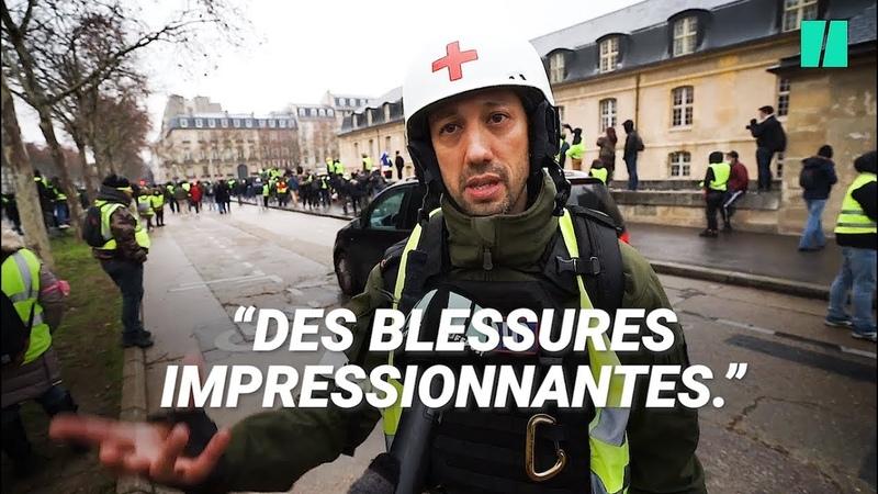 Gilets jaunes des street medic nous racontent les blessures qu'ils soignent