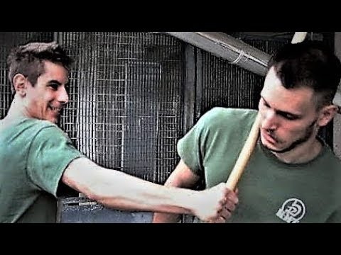 KRAV MAGA TRAINING Stick vs bare hands how to counterattack stick beatings part 2