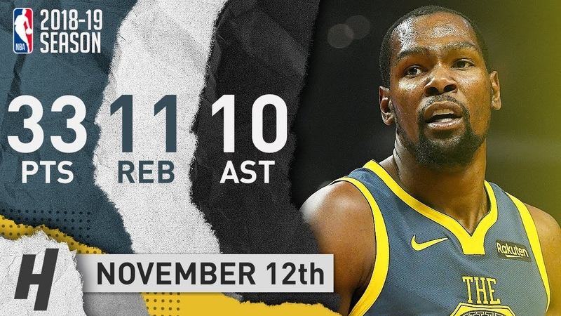 Kevin Durant Triple-Double Highlights Warriors vs Clippers 2018.11.12 - 33 Pts, 11 Reb, 10 Ast