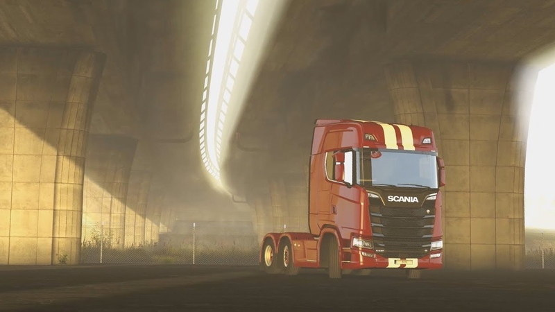 Under the Bridge - Euro Truck Simulator 2 main menu background