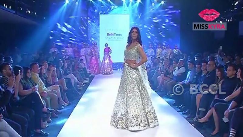Malavika Mohanan closes the finale by Suneet Varma at Delhi Times Fashion Week 2018