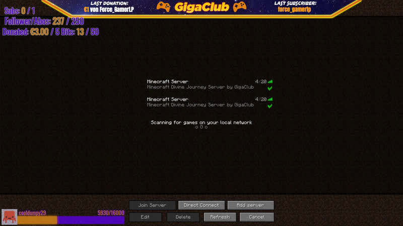 Minecraft Divine Journey STREAM | !IP GigaClub.net | (DeutschHD) | KevTV