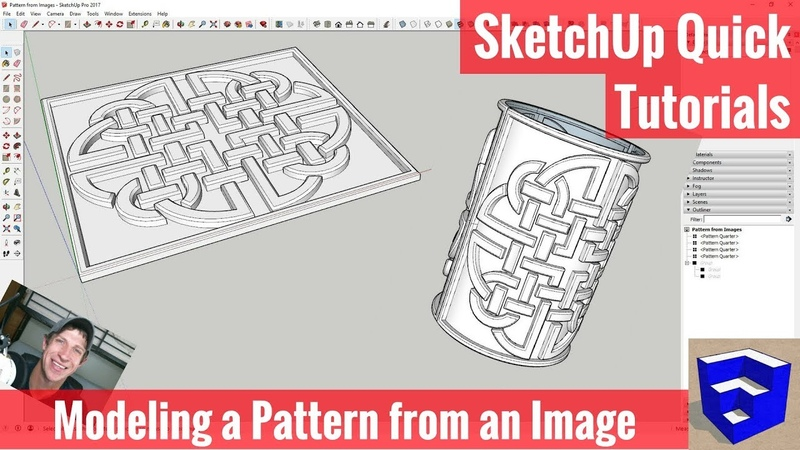 Modeling a Bent Pattern from an Image in SketchUp - SketchUp Quick Modeling Tutorials