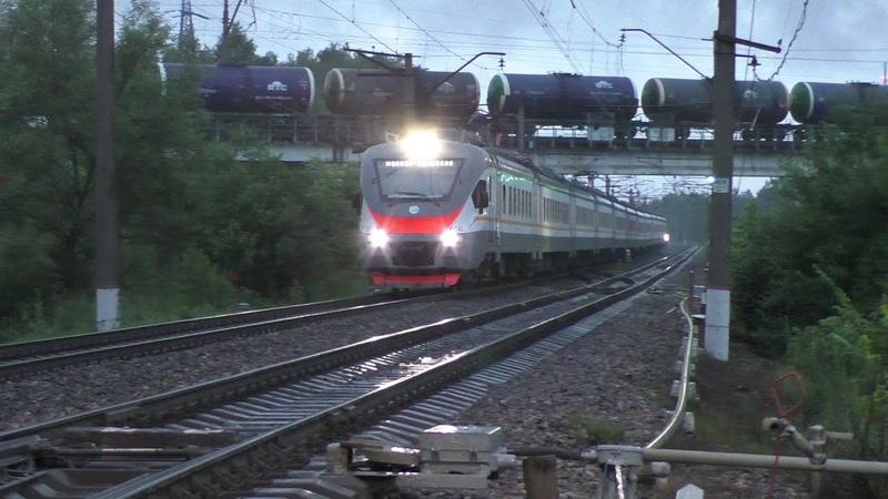 Электропоезд ЭП2Д-0041 ЦППК станция Бекасово-1