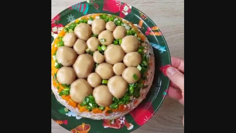 Zerofat салат с курочкой и грибочками