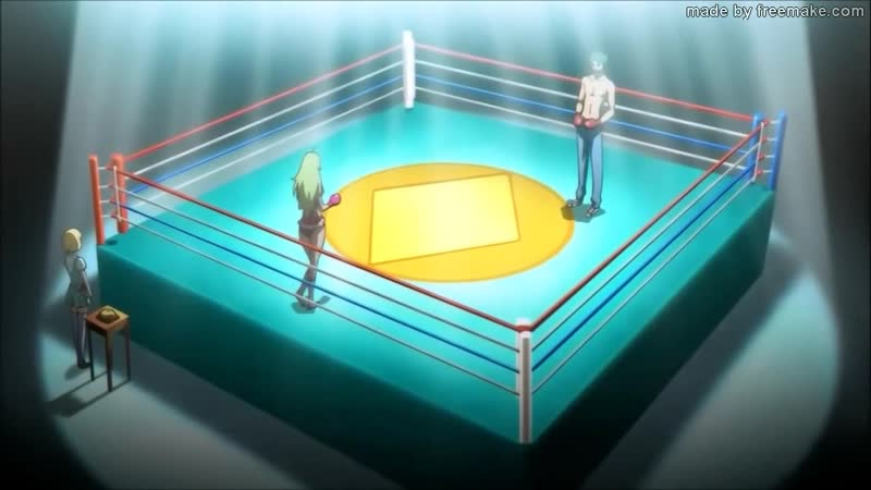 Girl knockdown a boy in a boxing mixed fight