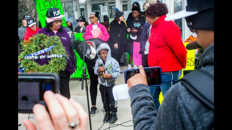 Flint children demand clean water, share effects of water crisis through protest