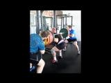 Александр Климович. Приседание со штангой на плечах 335,0 кг и 350,0 кг. Соб.вес. 90 кг