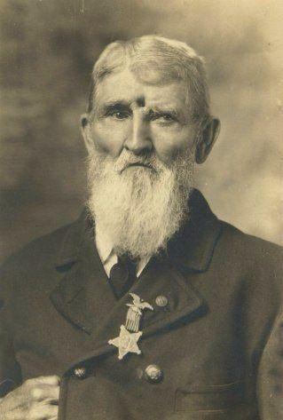 Ветеран Гражданской войны, Джейкоб Миллер, получивший пулевое ранение в голову 19 сентября 1863 года в битве при Чикамоге