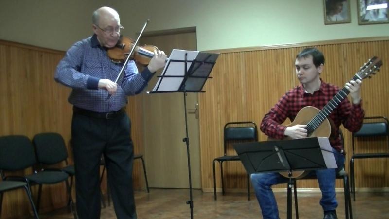 Паганини соната II оп.2а для скрипки и гитары