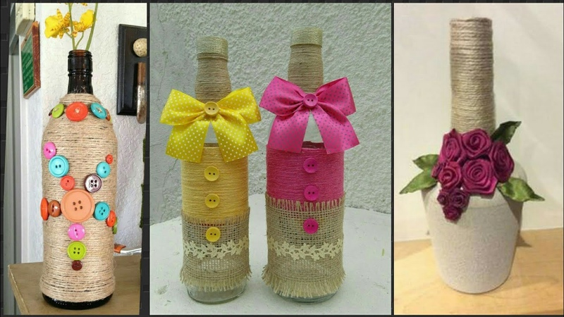Beautiful Recycle Bottle Decore Ideas