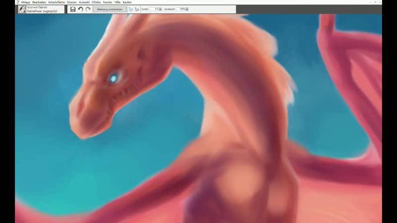 WYVERN SPEEDPAINT PROCESS - Corel Painter Essentials Trial ( 720 X 1280 )