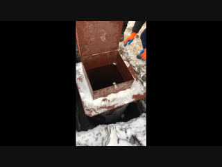 Обустройства скважины, установка кессона