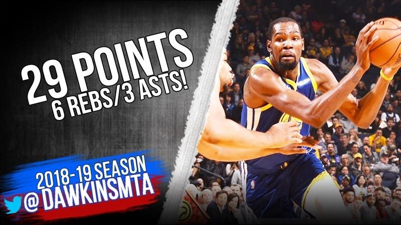 Kevin Durant vs Hawks, 14/11/18
