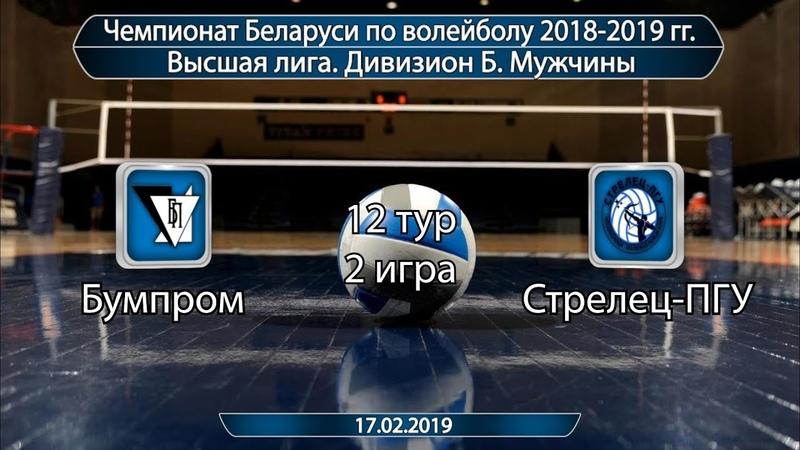 Волейбол 2019. Бумпром-Стрелец-ПГУ. Чемпионат Беларуси. Дивизион Б. 12 тур. 2 игра