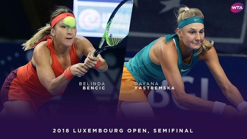 Belinda Bencic vs. Dayana Yastremska | 2018 Luxembourg Open Semifinal | WTA Highlights