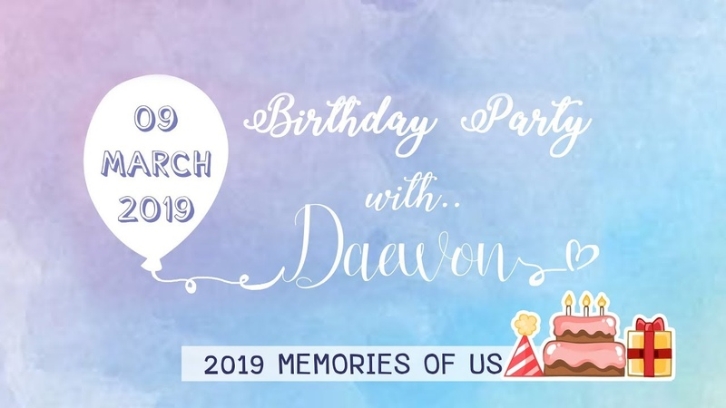 BIRTHDAY PARTY WITH DAEWON IN BKK FAN PROJECT