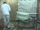 Механическое нанесение материала ЛАХТА штукатурная гидроизоляция