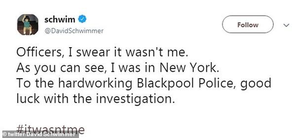 Британская полиция заподозрила Дэвида Швиммера в воровстве